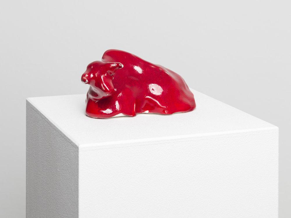 Ausruhen , 2014  glazed porcelain  6 × 14 × 8 cm