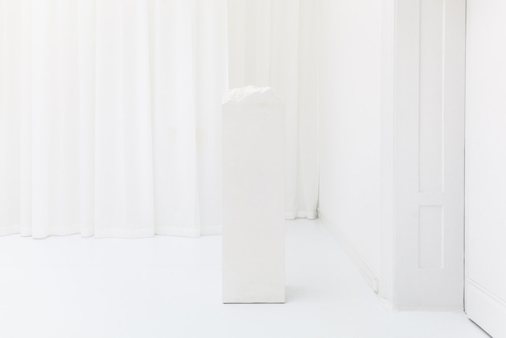 Olymp , 2013  plaster and stucco  142 × 40 × 40 cm