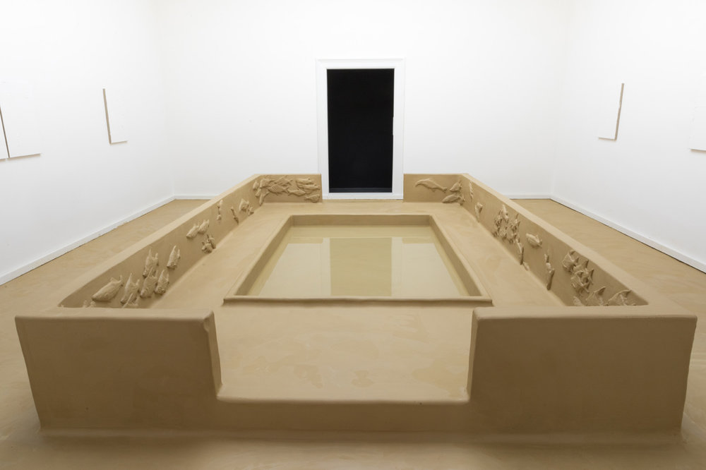 Passage auf dem Nil , 2016  clay, water  80 × 793 × 637 cm