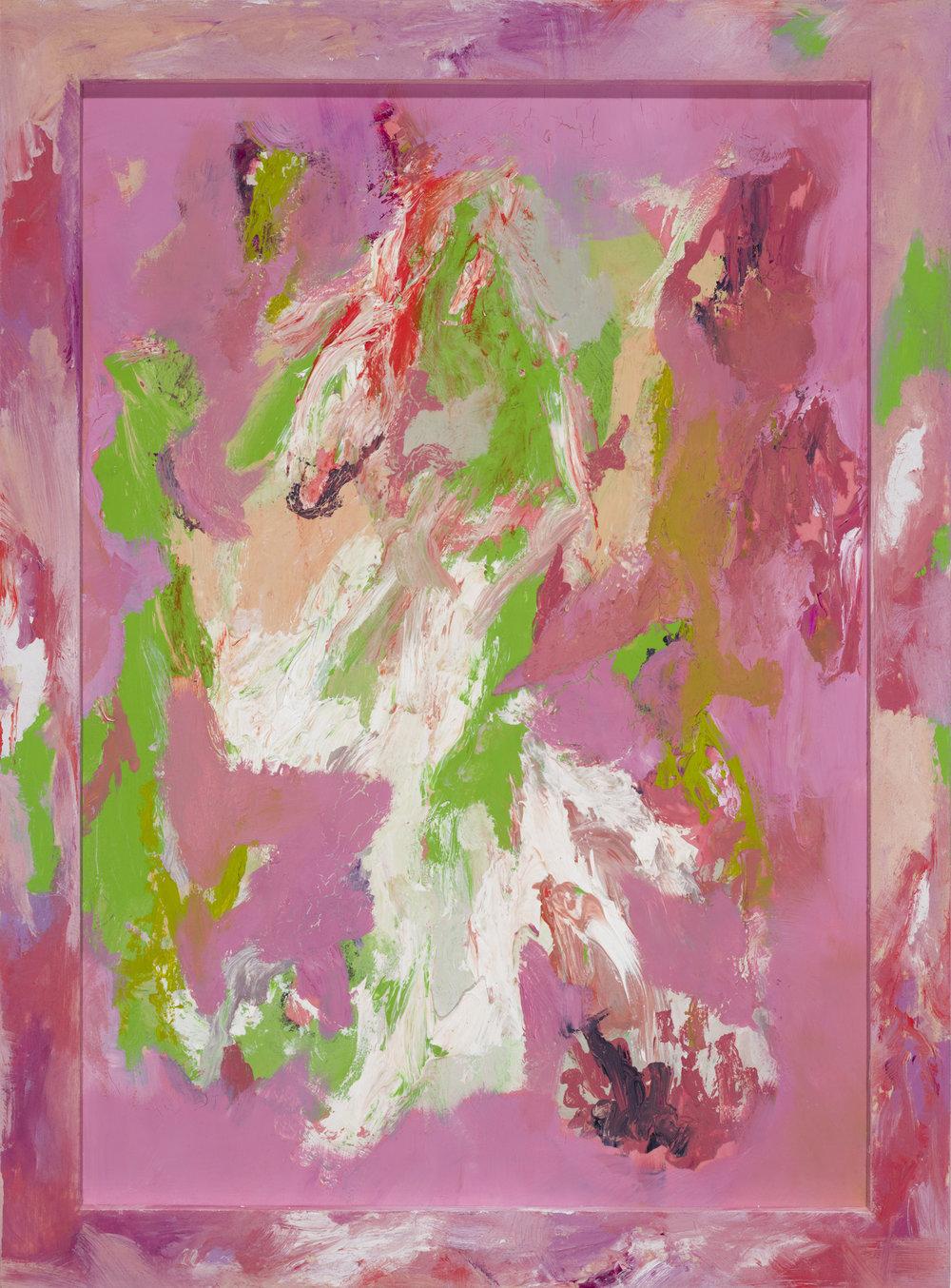 Artist Frame (für Bilder, die nicht aufhören wollen) , 2013  acrylic, oil on wood, lacquer on wood  46 × 34,4 cm