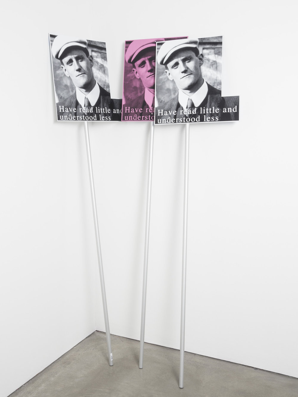 Reproduced Demonstration Banner , 2014  digital print on aluminium pole  Dimensions variable
