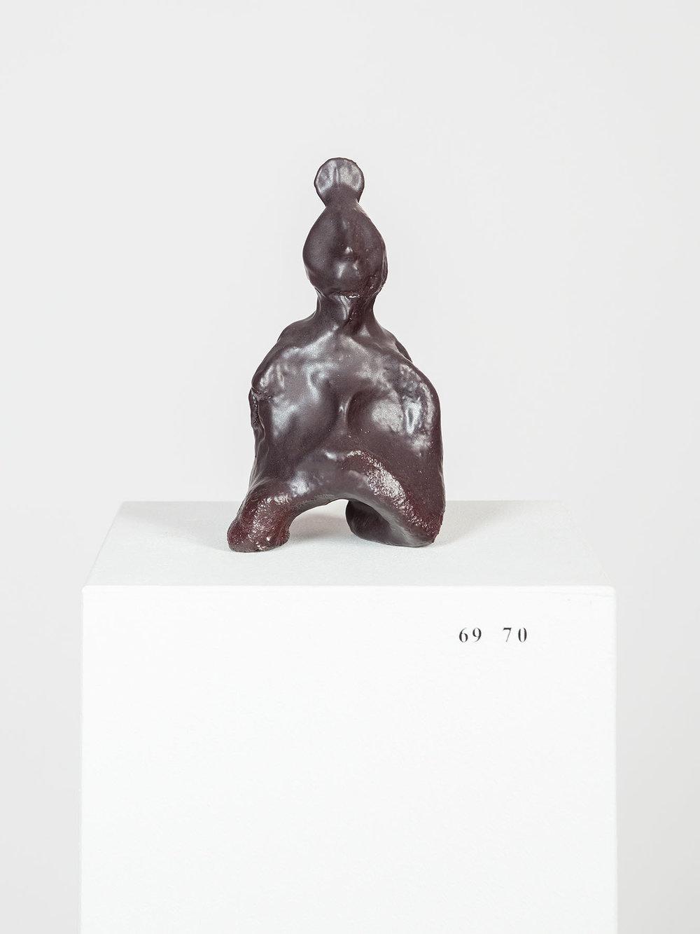 Sanupäerkopf , ca. 350-400 v Chr.  glazed ceramic  15,5 × 9 × 6 cm