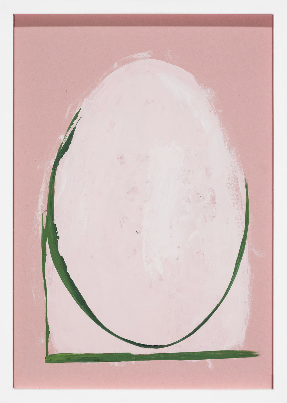 Unfreie Form , 2014  acrylic on pink paper  31 × 22 cm