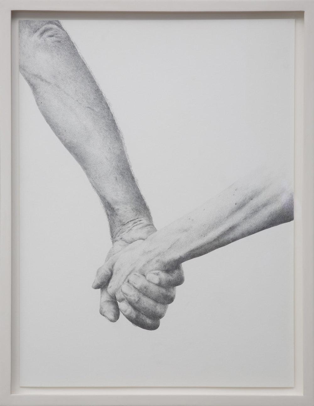 Ich bin eine Zeichnung (Portrait des Künstlers als Hermes) , 2015  Pencil on paper  53 × 41 cm