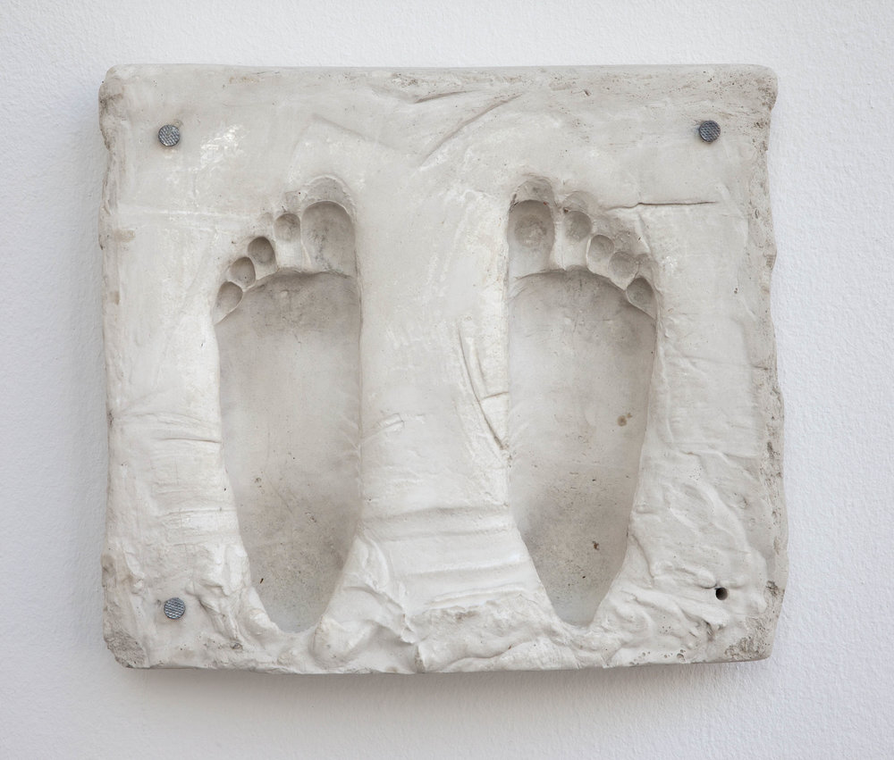 Alexander, (Kontakt) , 2015  plaster, lacquer and nails  35 × 39,5 × 6,5 cm (13 ¾ × 15 ½ × 2 ½ inches)
