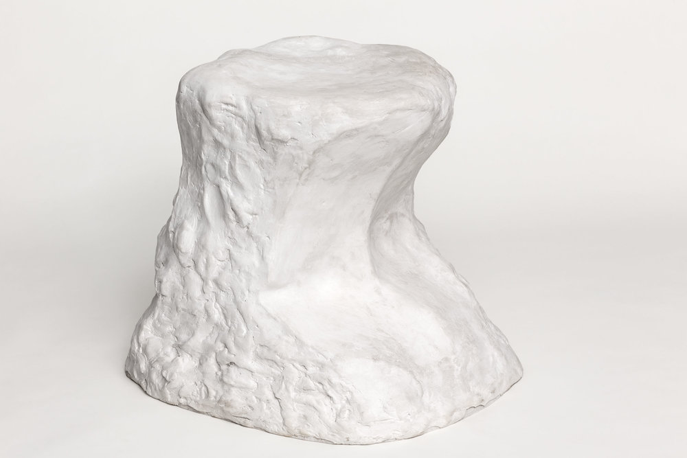 Pedestal for a Thinker , 2015  plaster  65 × 40 × 50 cm   Unique