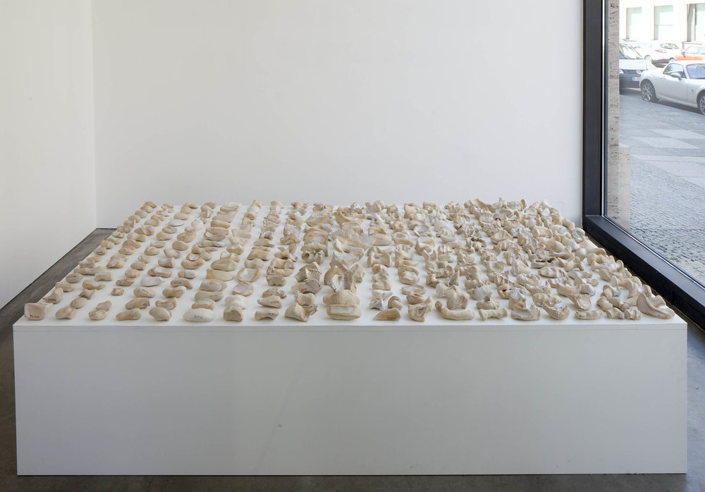 Tageswerk , 2015  ceramic  56 × 240 × 120 cm (22 × 94 ½ × 47 ¼ inches)  Unique