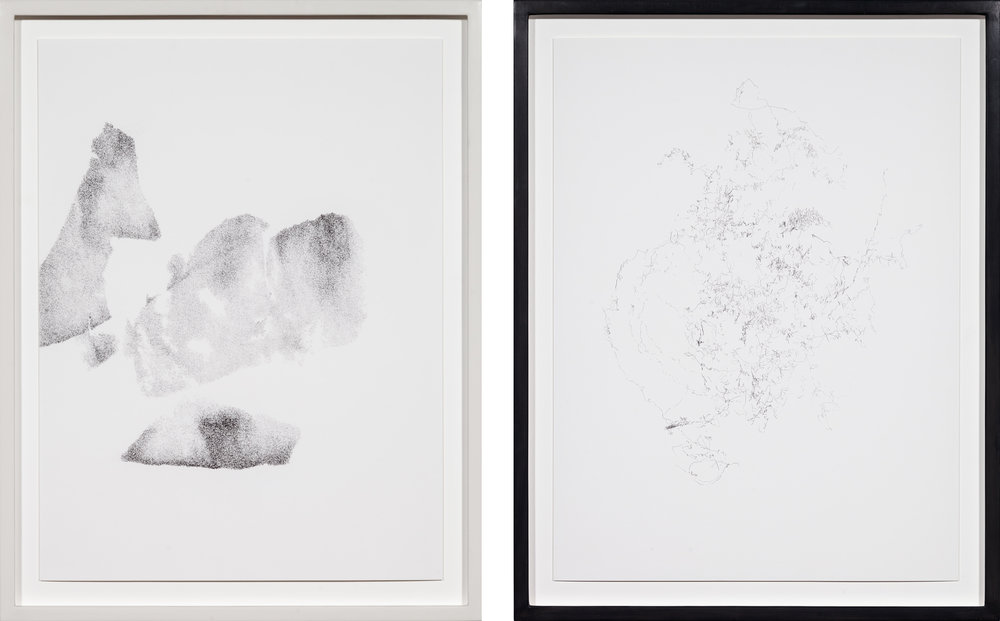 C&B , 2015  Pencil on paper  54,5 × 42,5 cm (each)  54,5 × 42,5 cm (each)