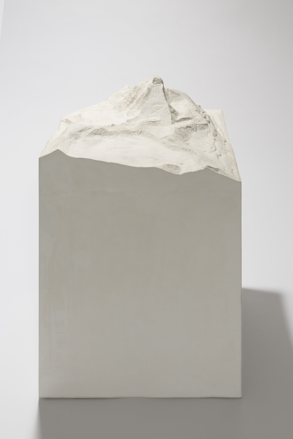 Matterhorn , 2013  plaster and stucco  82 × 50 × 50 cm