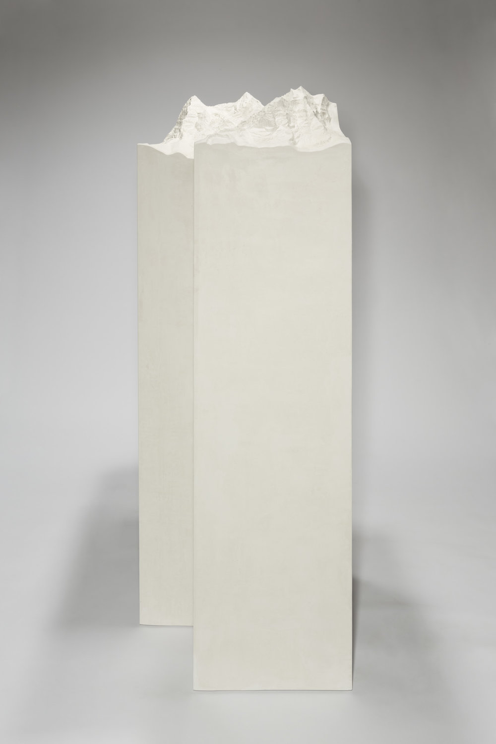 Mönch Jungfrau , 2013  Plaster and stucco  180 × 95 × 63 cm