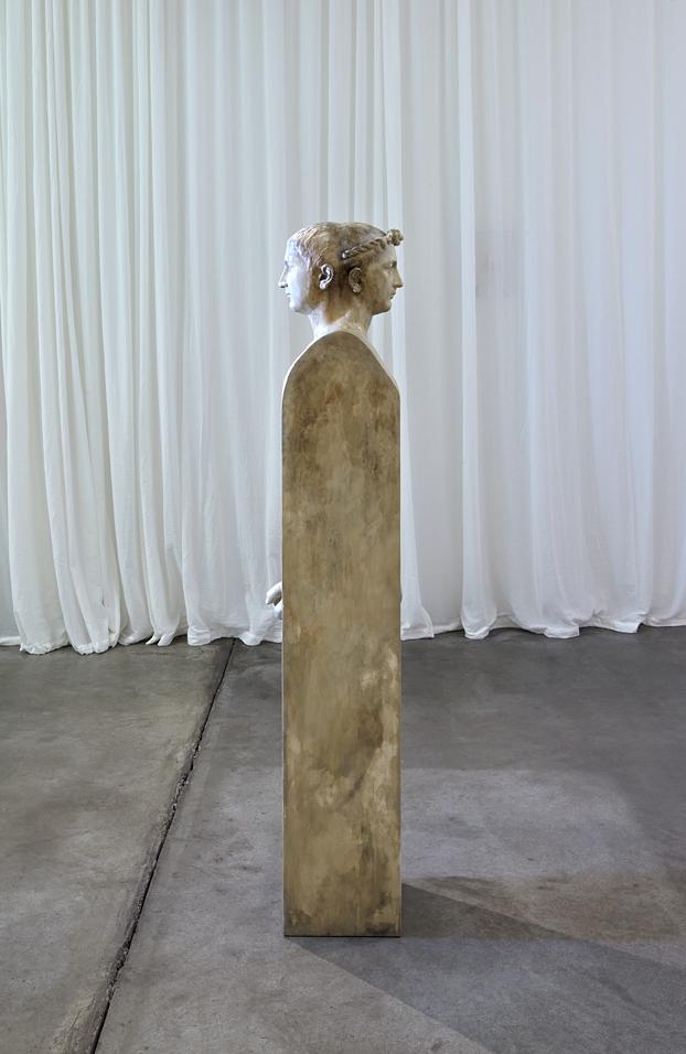 Ulrich, Agathe und Anders , 2013  plaster, paint  163 × 23,5 × 27 cm