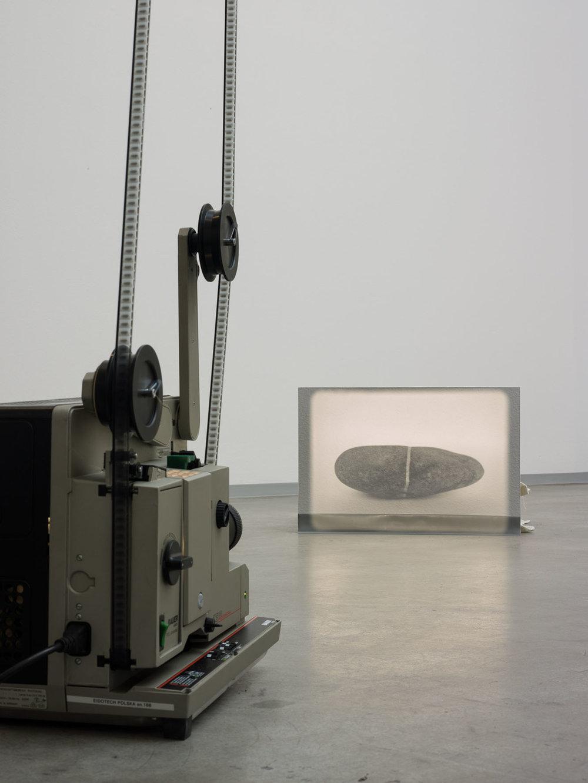 23 Sekunden aus dem Sein eines Steins , 2013  double X 16 mm black/white film  Dimensions variable