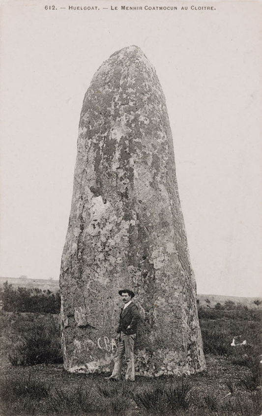 Menhir , 2013  postcard from Brittany