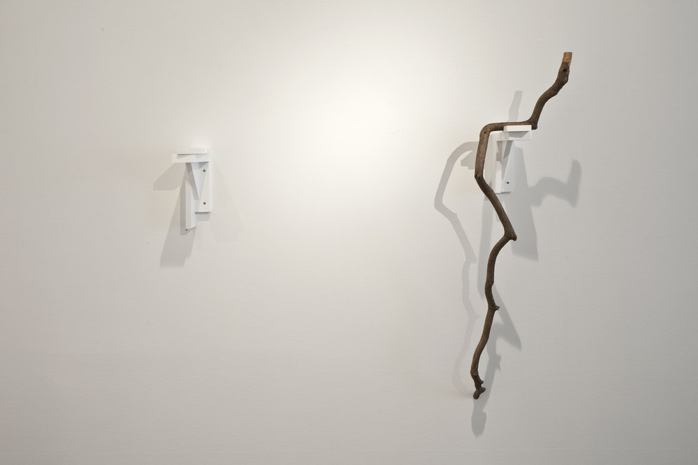 Untitled , 2013  wooden stick, gilded iron nails  138 × 26 × 19,5 cm