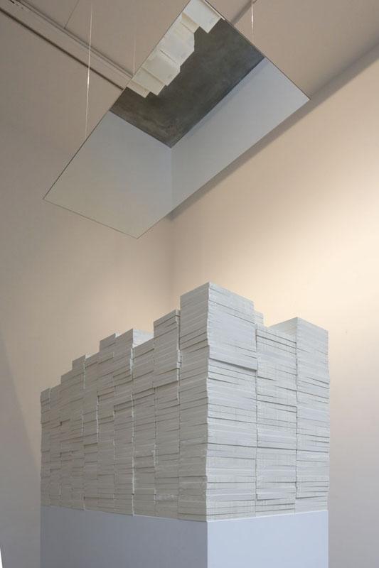 Ins Tausendjährige Reich, DRITTER TEIL (die Verbrecher) , 2013  1,000 book blocks, mirror  Dimensions variable