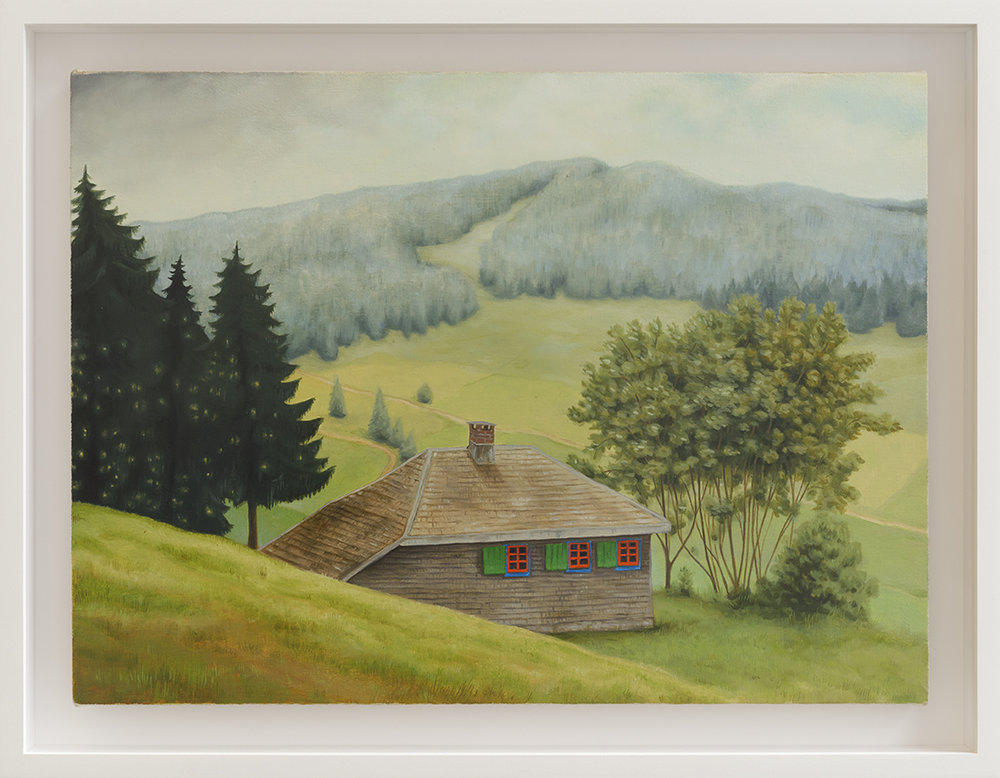 Heideggers Hütte, 2017   oil on canvas  30 x 40 cm