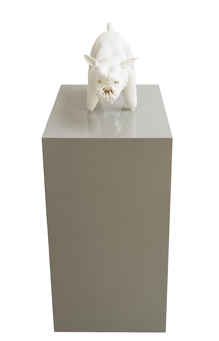 Keramisches Frühwerk (Monster),  2016/2017  2 part work, ceramic and 3D print  64 x 42 x 80 cm