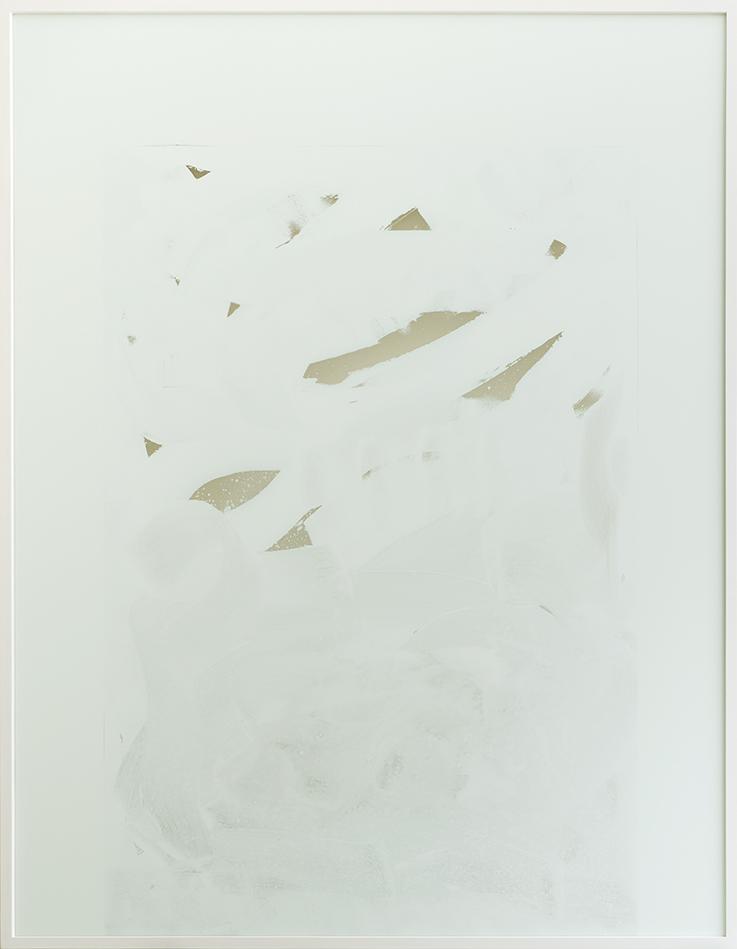 nicht zu aufregend,  2017  acrylic on glass    183 × 143,5 × 5,5 cm