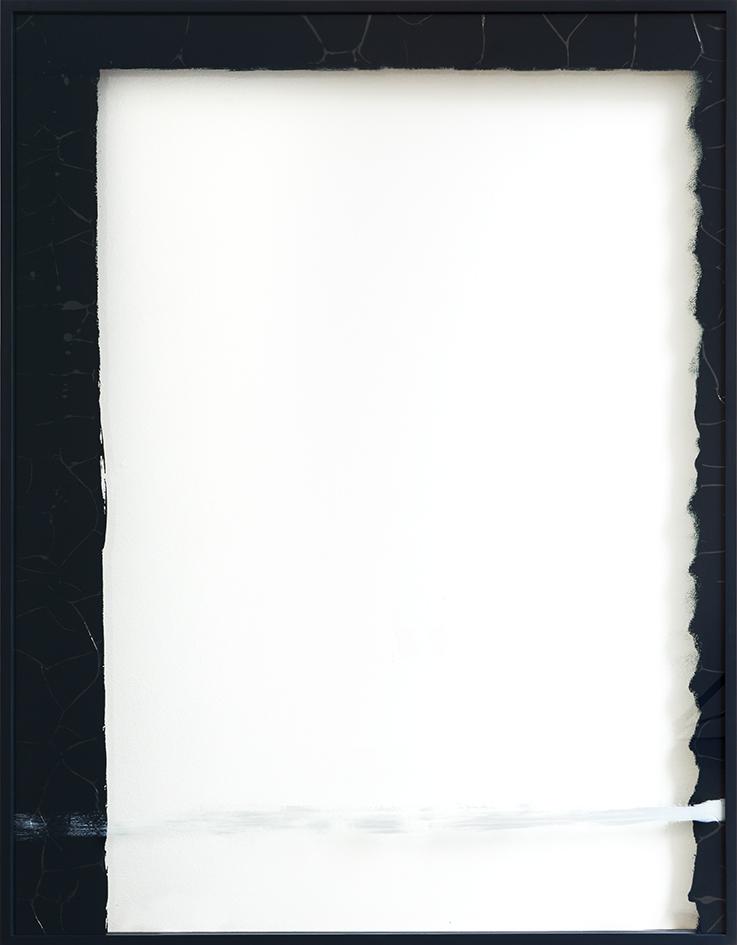 Verkehrt rum, 2017   acrylic on glass  183 x 143,5 x 5,5 cm