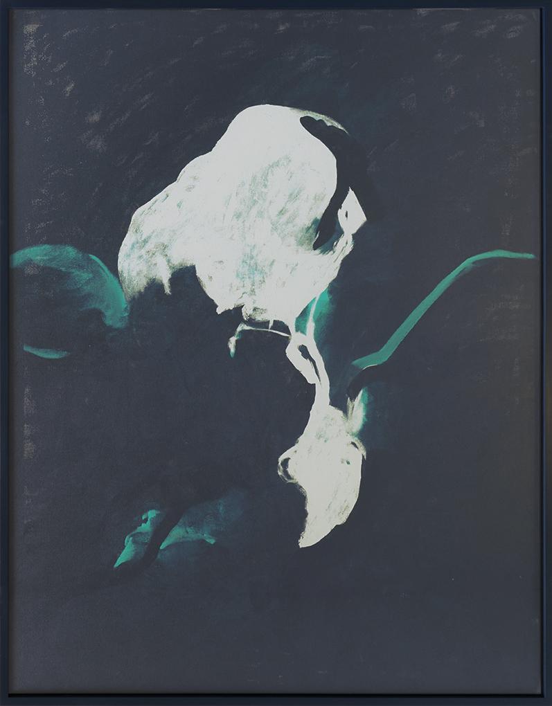 Verspätetes,  2017  acrylic on linen  183 x 143,5 x 5,5 cm