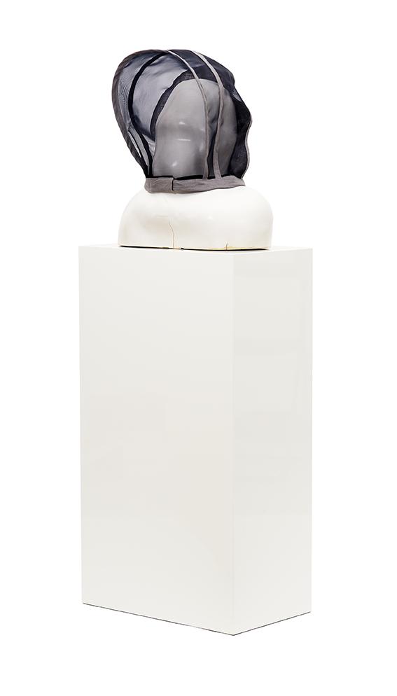 Weiser Kopf , 2017  ceramic  41 × 42,5 × 21,5 cm