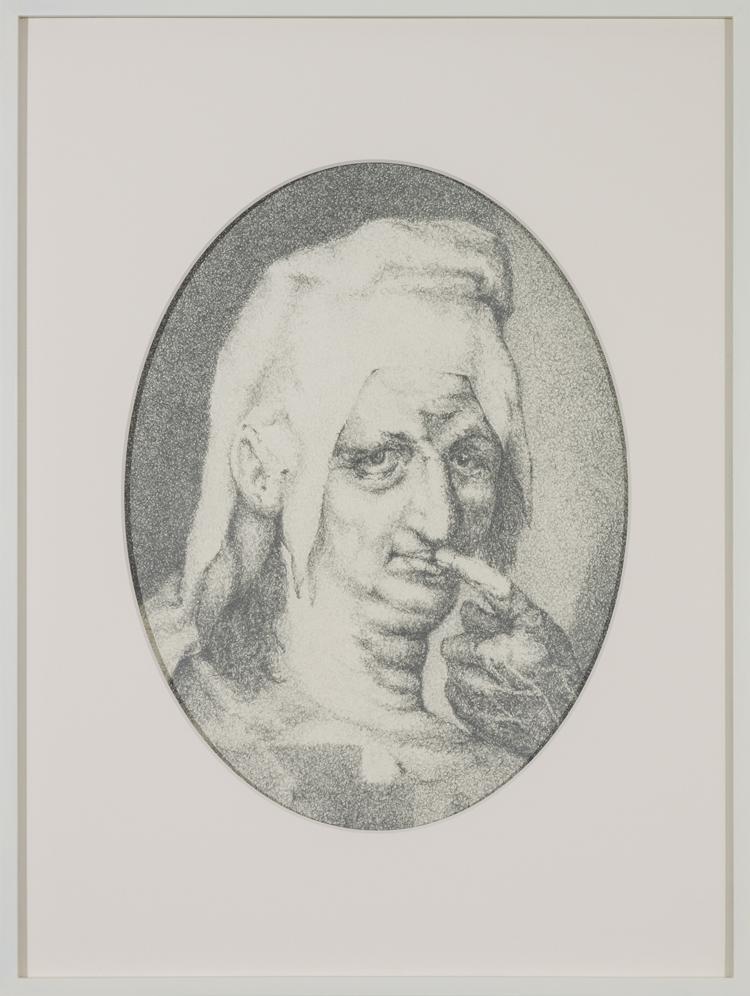 Schweigen (Harpocrates, Philosophus, Silentii Deus) , 2013  Pencil on paper  49 × 37 cm
