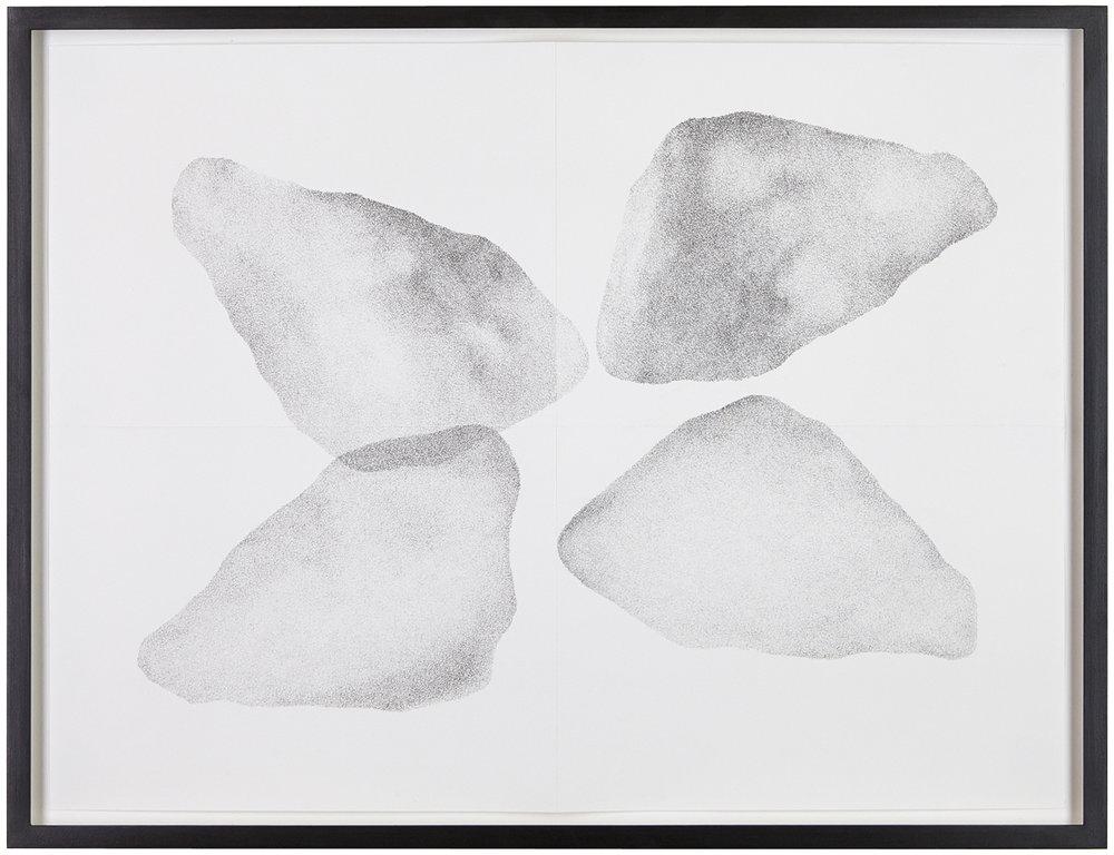 Untersuchung zu vier Formen, Nr. 3 , 2014  pencil on paper  52 × 68,5 cm
