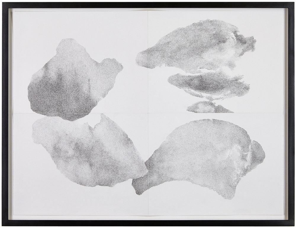 Untersuchung zu vier Formen, Nr. 7 , 2014  pencil on paper  52 × 68,5 cm