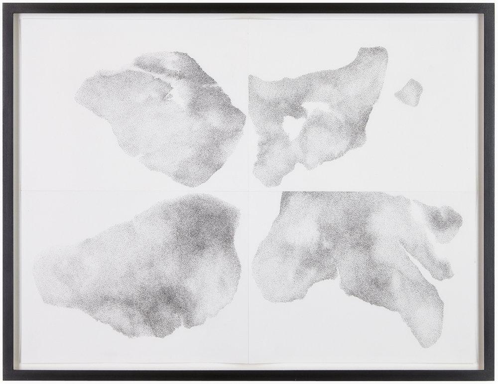 Untersuchung zu vier Formen, Nr. 4 , 2014  pencil on paper  52 × 68,5 cm