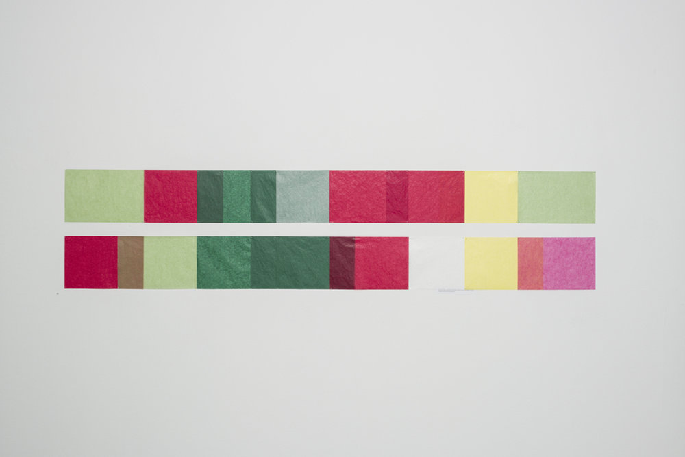 Judd für Arme , 2013  colored transparent paper  Dimensions variable