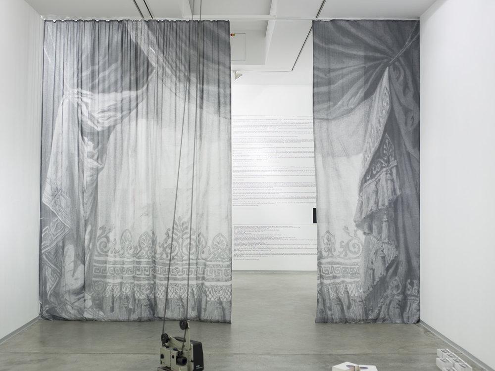 Nietzschejahr (Wagnervorhang) , 2013  printed muslin  400 × 531 cm