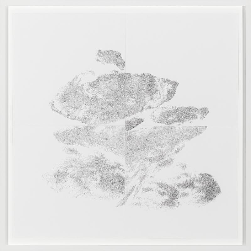 Freie Ausrichtung 4,2017  Pencil on paper  49,5 x 49,5 cm