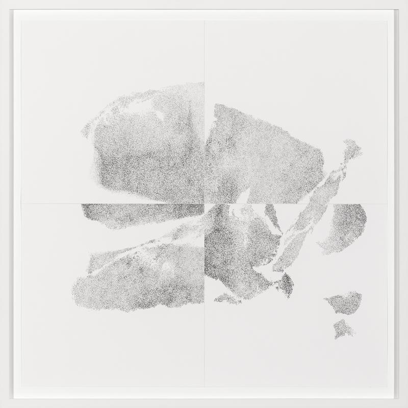 Freie Ausrichtung 6,2017  Pencil on paper  49,5 x 49,5 cm
