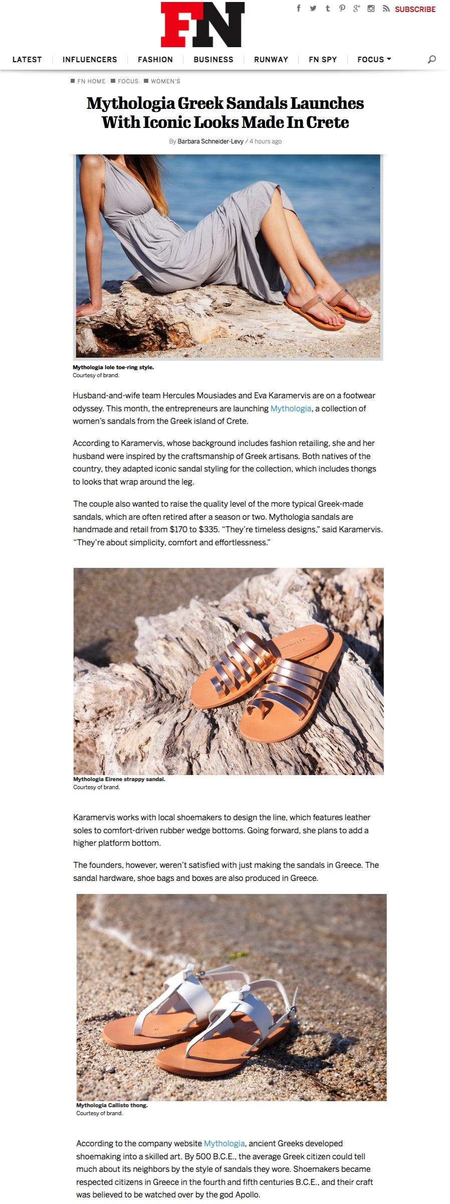 FOOTWEAR NEWS ARTICLE APRIL 2016/ WWW.FOOTWEARNEWS.COM