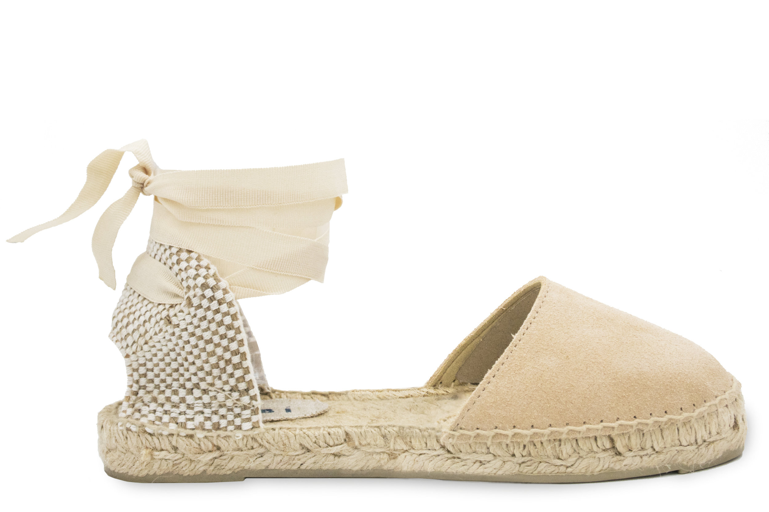 301f5fcb815 MANEBÍ - Espadrilles Handmade in Spain - Official Website - FLAT SANDAL -  Hamptons - Champagne Beige