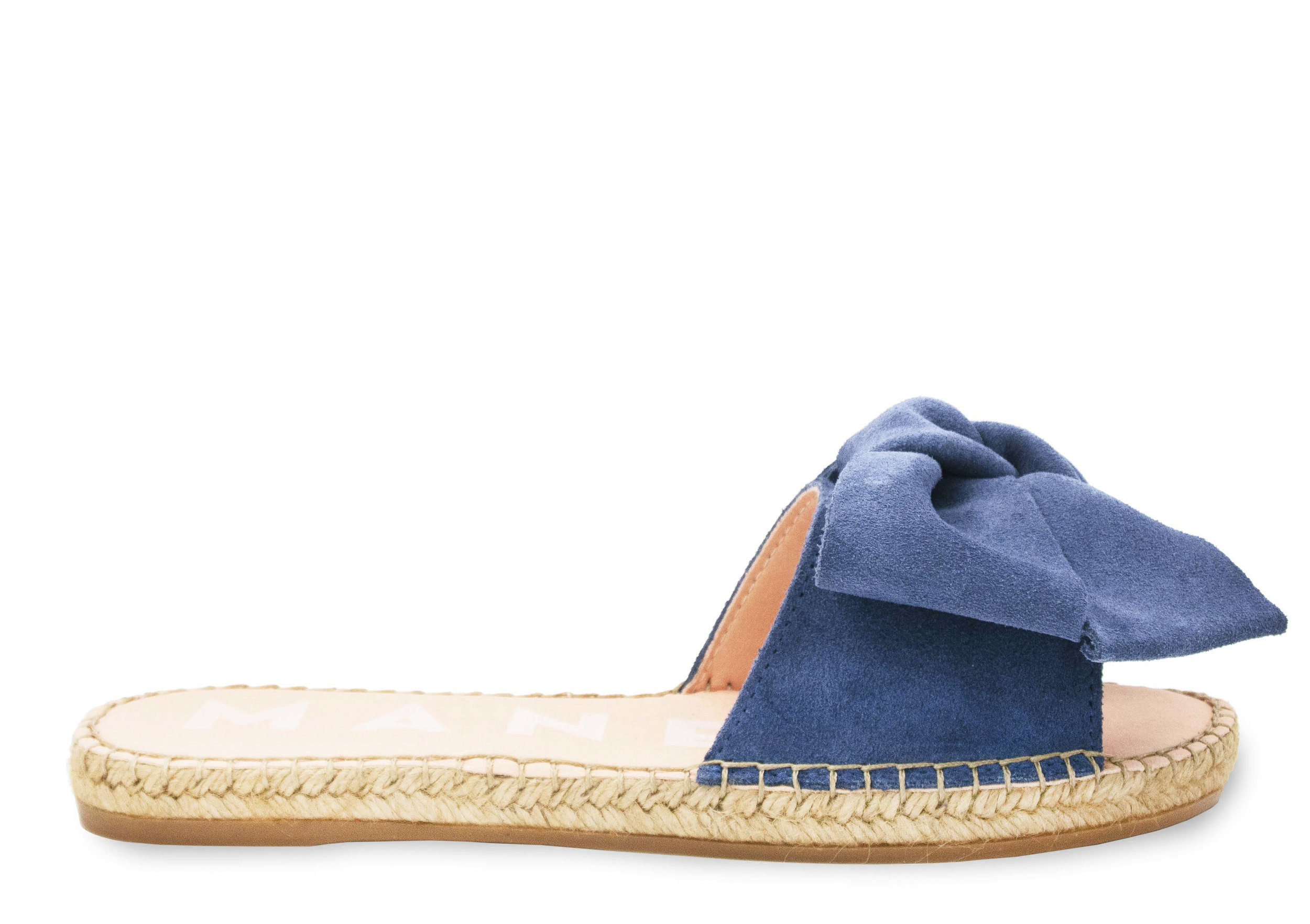 a36539461 MANEBÍ - Espadrilles Handmade in Spain - Official Website - Flat Sandals  with Bow - Versailles - Sunny Yellow