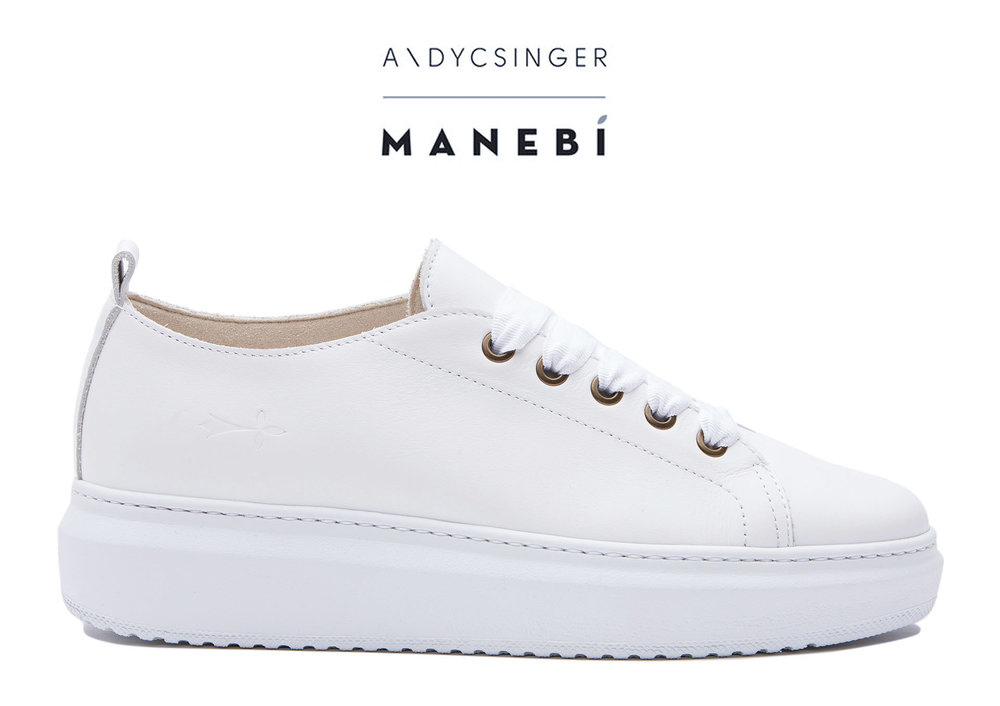 Manebí White Bold Sneakers