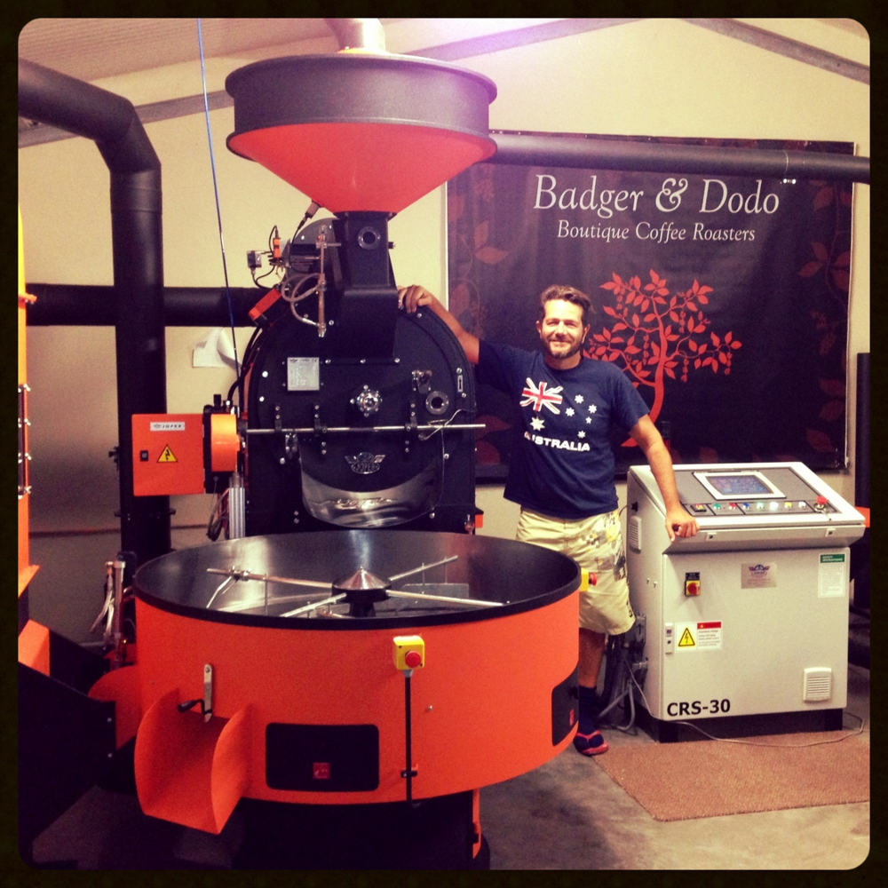 Brock Lewin, Owner of Badger & Dodo Boutique Coffee Roasters.