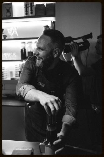 Johnny Hickinson, barista at Established Coffee & 2015 N. Ireland Aeropress Champion.