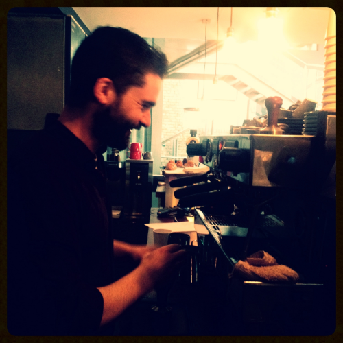 Rob Lewis, head barista at Roasted Brown.