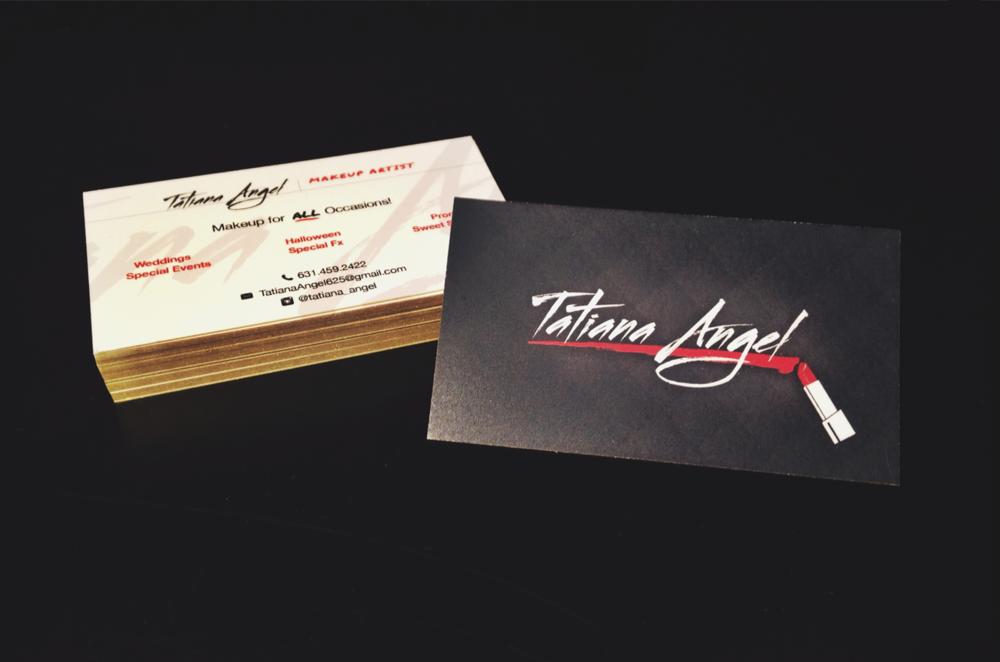Makeup Artist Business Card Design — Noizey Graphics