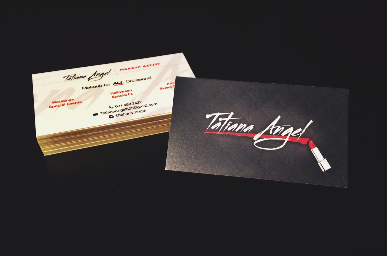 Makeup artist business card design noizey graphics colourmoves