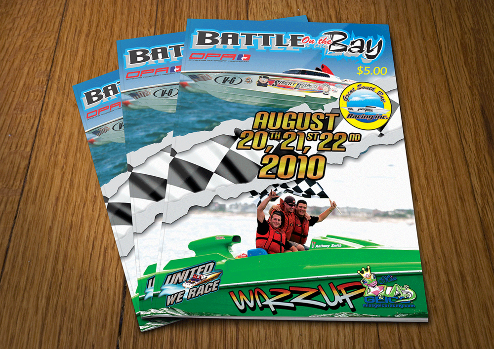 Offshore Powerboat Race Magazine Design