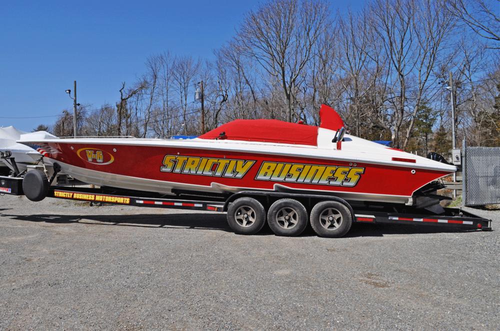 Race Boat on Trailer