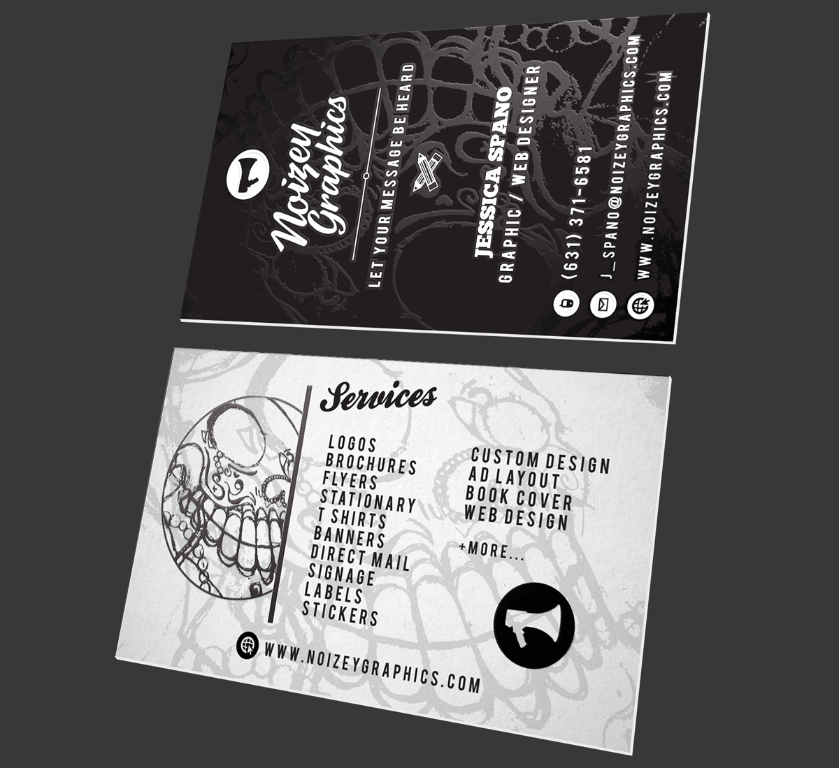 Noizey graphics for Huntington card designs