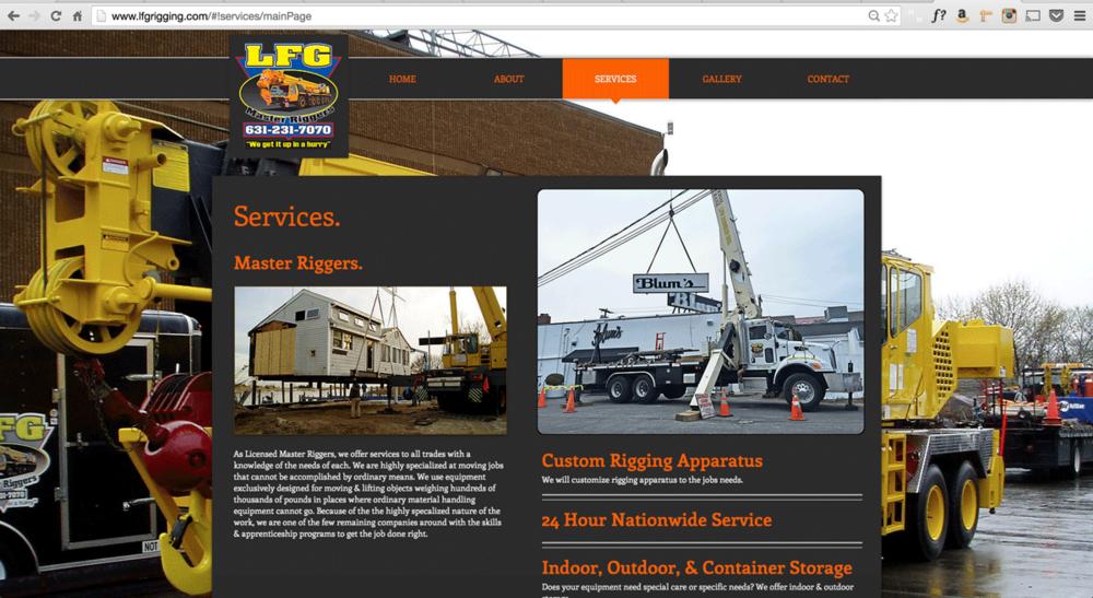 LFG Rigging Website Design