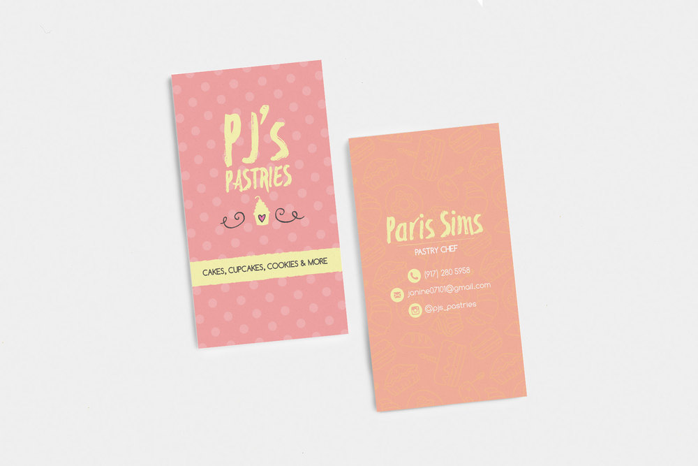 Pastry Chef Business Cards — Noizey Graphics