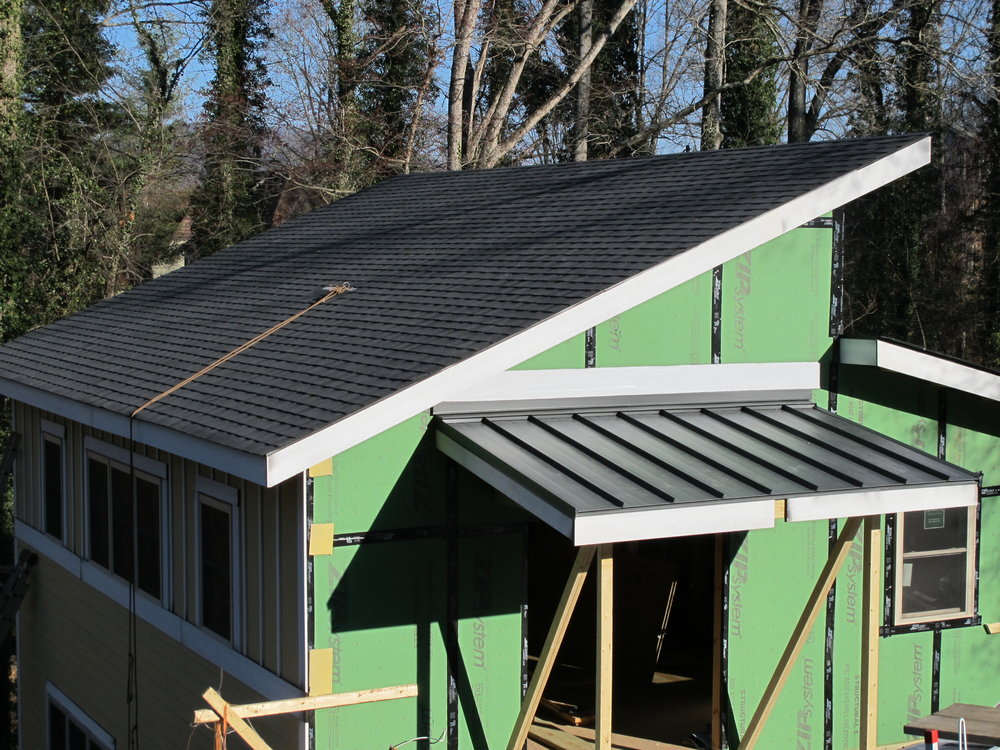 Look! A roof and siding!