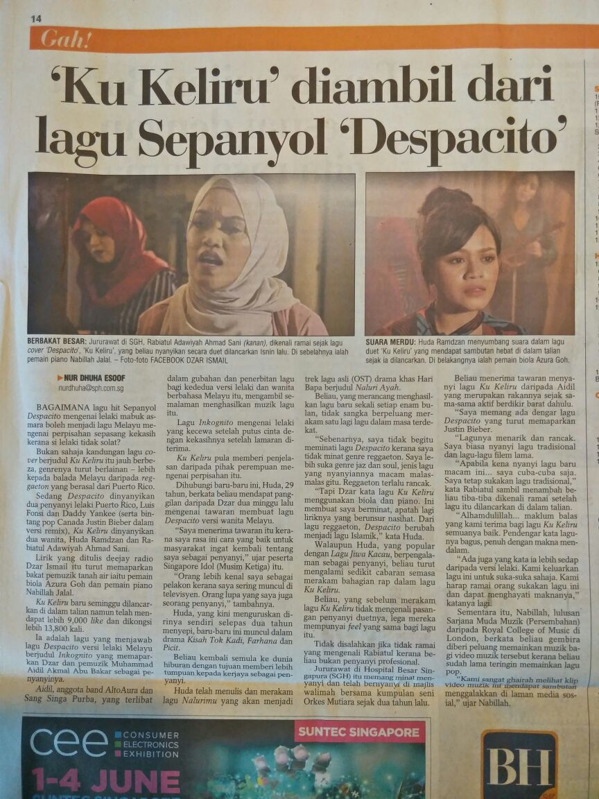 And we got featured on Berita Harian today!