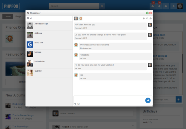 New phpFox Instant Messaging App — phpFoxer